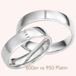 Eheringe Platin 950 oder 600…
