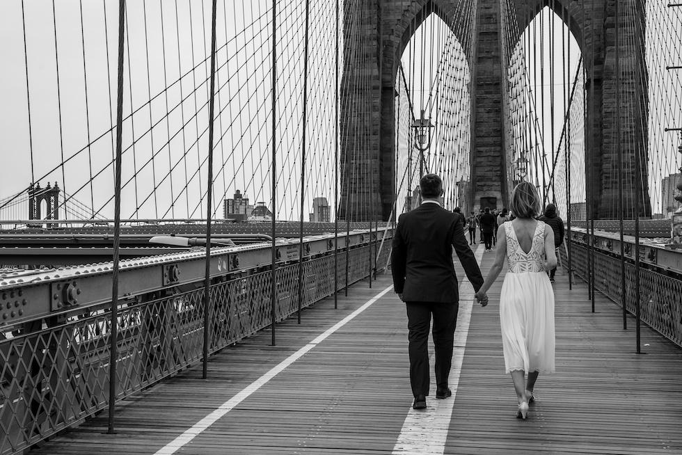 Hochzeit auf der Brooklyn Bridge New York