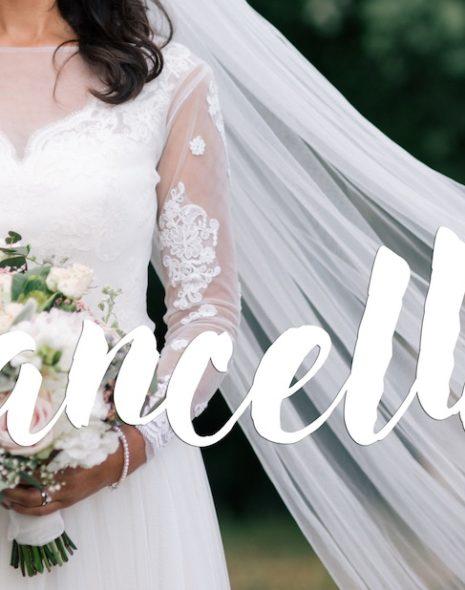 Hochzeit abgesagt
