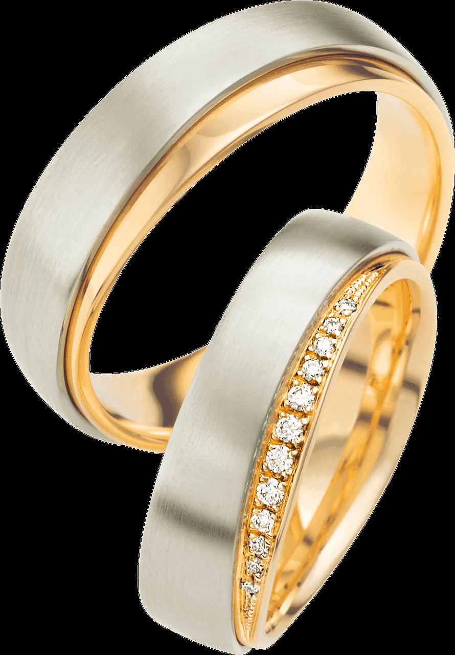 Trauringe gold bicolor